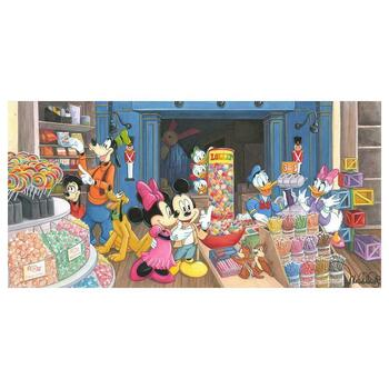 """Michelle St. Laurent, """"Candy Store """" Hand Signed & Embellished Limited Edition Canvas from Disney Fine Art with COA"""