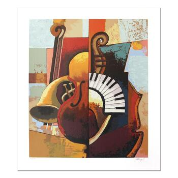 """Igor Kovalev, """"Symphony III"""" Hand Signed Limited Edition Serigraph with Letter of Authenticity."""