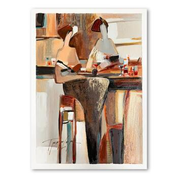 """Yuri Tremler, """"Ladies' Lunch"""" Limited Edition Serigraph, Hand Signed with Letter of Authenticity."""
