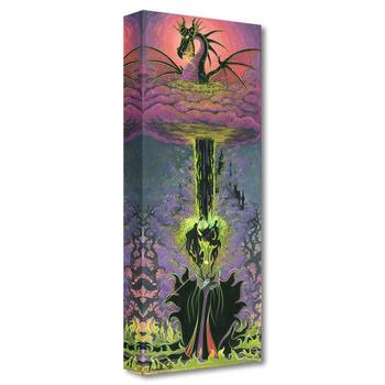 "Disney Fine Art ""Maleficent's Transformation"" Limited Edition Canvas by Michelle St Laurent from the Treasures Collection; COA."
