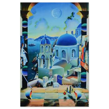 """Ferjo, """"Cruising to Santorini"""" Limited Edition on Gallery Wrapped Canvas, Numbered and Signed with Letter of Authenticity."""