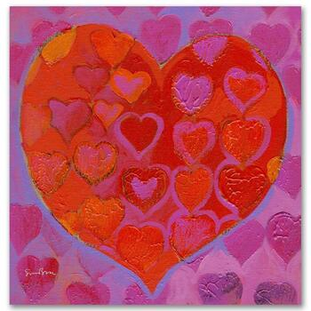 "Simon Bull, ""Playful Heart VI"" Gallery Wrapped Ltd Ed Giclee on Canvas, Numbered and Signed."