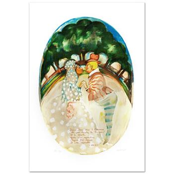 """Gretty Rubinstein, """"Adam And Eve"""" Limited Edition Lithograph, Numbered and Hand Signed with Certificate."""