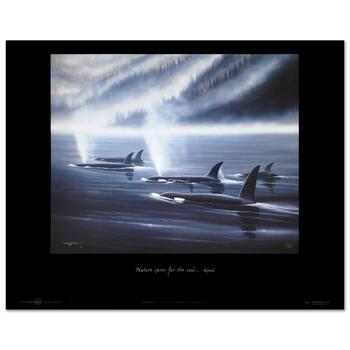 """Wyland, """"Orca Realm"""" Collectible Fine Art Poster."""