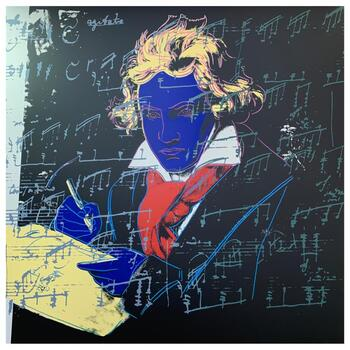 """Andy Warhol """"Beethoven I"""" Limited Edition Silk Screen Print from Sunday B Morning."""