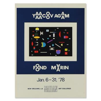 "Yaacov Agam, ""Geometric Shapes"" Collectible Lithograph."