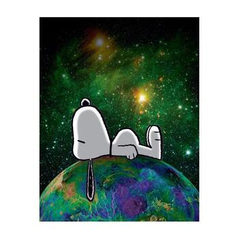 """Peanuts, """"On Top of the World"""" Hand Numbered Canvas (40""""x44"""") Limited Edition Fine Art Print with Certificate of Authenticity."""