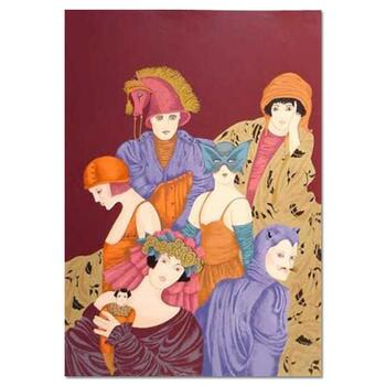 """Haya Ran, """"Motherhood"""" Hand Signed Limited Edition Serigraph with Letter of Authenticity."""