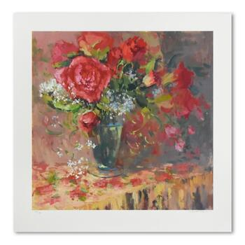 """S. Burkett Kaiser, """"Morning Petals"""" Limited Edition, Numbered 28/195 and Hand Signed with Letter of Authenticity."""