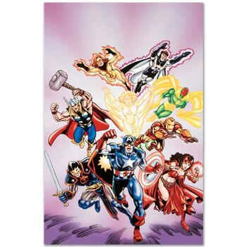 """Marvel Comics """"Avengers #16"""" Numbered Limited Edition Canvas by Jerry Ordway; Includes COA."""