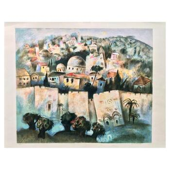 """Gregory Kohelet, """"Sunrise in Jerusalem"""" Hand Signed Limited Edition Serigraph with Letter of Authenticity."""