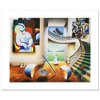 """Ferjo, """"Dreaming"""" Limited Edition Giclee on Canvas, Numbered and Hand Signed with Certificate."""