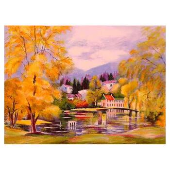 """Zina Roitman, """"Autumn"""" Hand Signed Limited Edition Serigraph with Letter of Authenticity."""