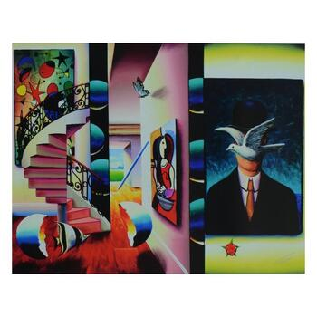 """Ferjo, """"Man in the Bowler Hat"""" Limited Edition on Canvas, Numbered and Signed with Letter of Authenticity."""