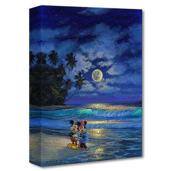"""Walfrido Garcia, """"Romance Under the Moonlight """" Limited Edition Gallery Wrapped Canvas from the Disney Fine Art; with COA."""