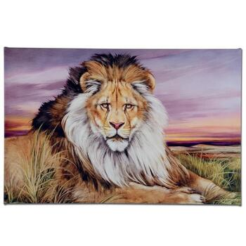 """Martin Katon, """"African Lion"""" Ltd Ed Giclee on Gallery Wrapped Canvas, Numbered and Hand Signed."""