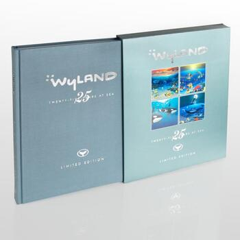 """""""Wyland: 25 Years at Sea""""(2006) Ltd Ed Collector's Fine Art Book No., Hand Signed & Thumb-Printed Front Page."""