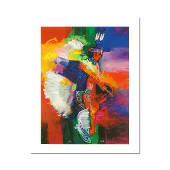 """""""Fancy Dancer I"""" is a LIMITED EDITION Giclee on Canvas by John Nieto, Numbered 1/500 and Hand Signed with Certificate."""