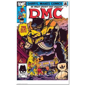"""""""This Is My City"""" is a Chromatic Pigment Ink Limited Edition, Numbered and Hand-Signed by Darryl """"DMC"""" McDaniels."""