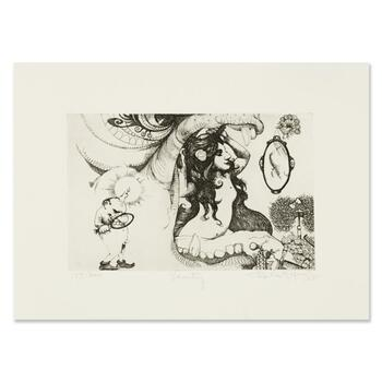 """Charles Bragg (1931-2017), """"Vanity"""" Limited Edition Etching, Numbered and Hand Signed with Letter of Authenticity."""