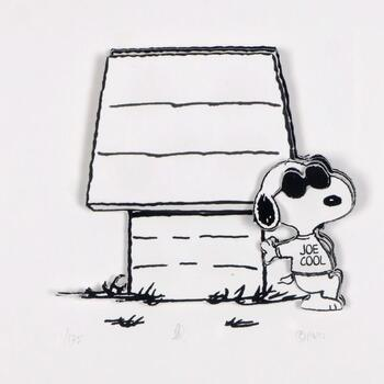 """Peanuts, """"Just Be You"""" Hand Numbered Limited Edition 3D Decoupage with Certificate of Authenticity."""