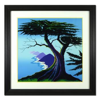 """Larissa Holt, """"Island Cyprus"""" Framed Limited Edition Serigraph, AP Numbered 3/15 and Hand Signed with Letter of Authenticity."""