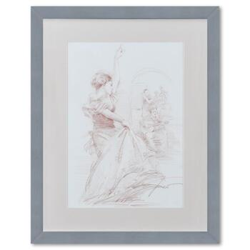 Pino (1939-2010), Framed Original Pencil Drawing, Hand Signed with Letter of Authenticity.