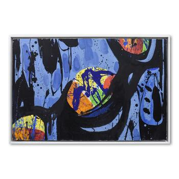 Jenik Cook, Framed Original Acrylic Painting on Canvas, Hand Singed with Letter of Authenticity.
