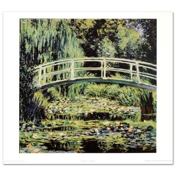 "Monet (1840-1926), ""White Waterlilies"" Fine Art Print, Using EncreLuxe Printing Process."