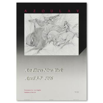 """Guillaume Azoulay, """"1986 Art Expo NY Exhibition Poster"""" featuring the title, """"Twilight""""."""