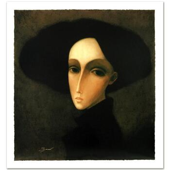 """Sergey Smirnov (1953-2006), """"Baroness"""" Ltd Ed Mixed Media on Canvas, Numbered and Hand Signed with Cert."""
