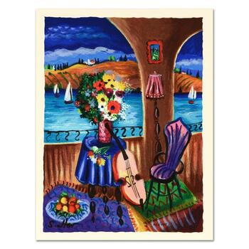 """Shlomo Alter, """"Spanish Guitar"""" Limited Edition Serigraph, Numbered and Hand Signed with Certificate."""
