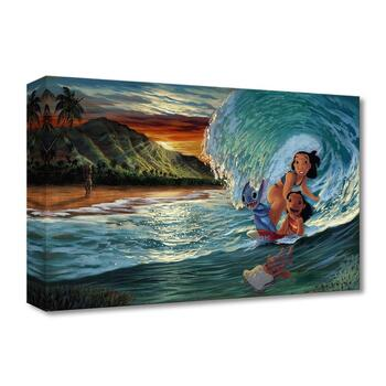 """Walfrido Garcia, """"Morning Surf"""" Limited Edition Canvas from the Disney Fine Art Treasures collection; COA."""