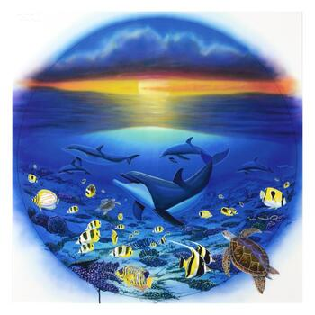 """WYLAND, """"Sea of Life"""" LIMITED EDITION Giclee on Canvas, Numbered and Hand Signed with Certificate."""