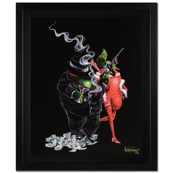 """Michael Godard, """"Gangster Love"""" Framed Limited Edition on Canvas, Numbered and Signed with Letter of Authenticity."""