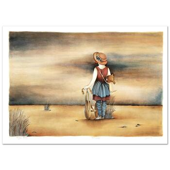 """Haya Ran, """"Our Lost Childhood Days"""" Hand Signed Limited Edition Serigraph with Letter of Authenticity."""