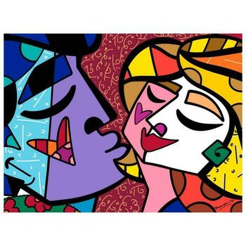 """Romero Britto """"Honey"""" Hand Signed Limited Edition Giclee on Canvas; COA"""