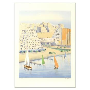 """Victor Zarou, """"Grand Motte"""" Limited Edition Lithograph, Numbered and Hand Signed."""