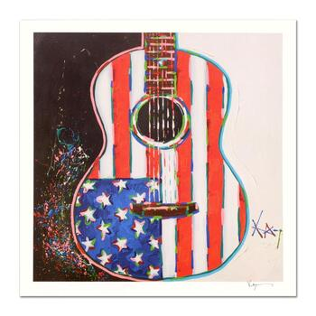 """KAT, """"American Acoustic"""" Limited Edition Lithograph, Numbered and Hand Signed with Certificate of Authenticity."""