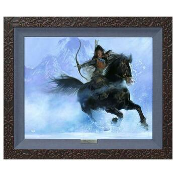 """""""The Point of Her Arrow"""" Framed Limited Edition Canvas by John Rowe from the Disney Fine Art Silver Series"""