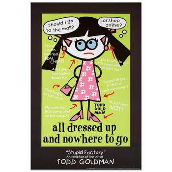 """Todd Goldman, """"All Dressed Up and Nowhere to Go"""" Collectible Lithograph (24"""" x 36"""")."""