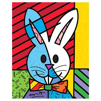 """Britto, """"Easter Bunny"""" Hand Signed Limited Edition Giclee on Canvas; Authenticated."""