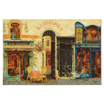 """Viktor Shvaiko, """"La Fonda"""" Hand Embellished Limited Edition on Canvas, Numbered and Hand Signed with LOA"""
