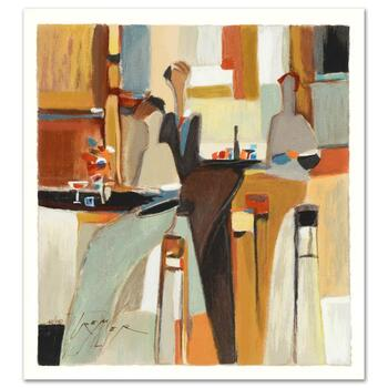 """Yuri Tremler, """"Evening Out"""" Limited Edition Serigraph by Yuri Tremler, Hand Signed with Certificate."""