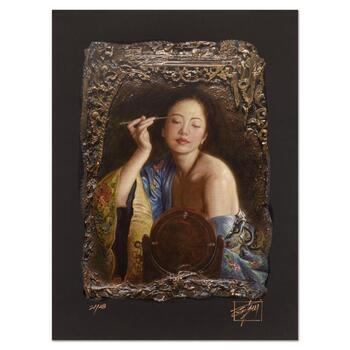 """George Tsui, """"Painting Eyebrow"""" Limited Edition Chiarograph, Numbered and Hand Signed with Letter of Authenticity."""