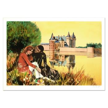 """Robert Vernet Bonfort, """"The Couple"""" Limited Edition Lithograph, Numbered and Hand Signed."""