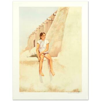 """William Nelson, """"Isleta Indian Girl"""" Limited Edition Lithograph, Numbered and Hand Signed by the Artist."""
