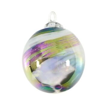 """Glass Eye Studios, """"Ornament (Black and White)"""" Hand Blown Glass  Sculpture (Second)."""