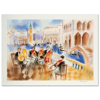 """Michael Rozenvain, """"Summer Sonata"""" Limited Edition Serigraph, Numbered and Hand Signed with Certificate."""