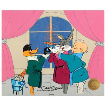 """Chuck Jones (1912-2002) """"Cheers."""" Ltd Ed Animation Cel. Hand Painted, Numbered and Hand Signed with Certificate."""